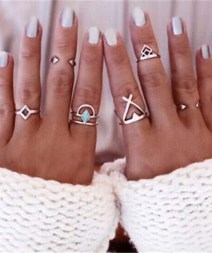 Σετ 6 Δαχτυλίδι Boho