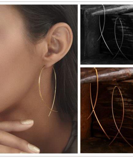 Σκουλαρίκια Κρεμαστά Μεταλλικά