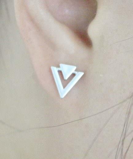 Σκουλαρίκια Με Γεωμετρικό Σχήμα