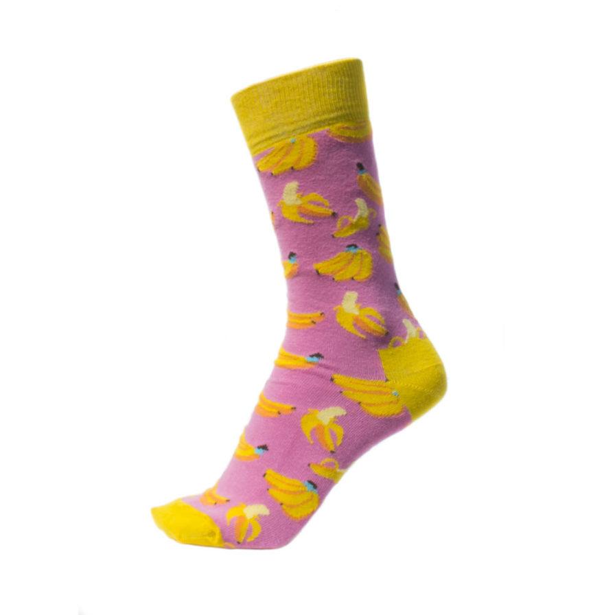 Σετ Ανδρικές Κάλτσες Ψηλές Με Μπανάνες - Καρπούζια