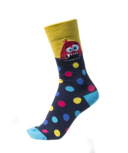 Σετ 2 Ανδρικές Κάλτσες Ψηλές Με Τέρατα