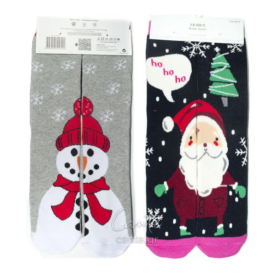Χριστουγεννιάτικες Γυναικείες Κάλτσες Πετσετέ - Γυναικείες Κάλτσες 5ee61271563