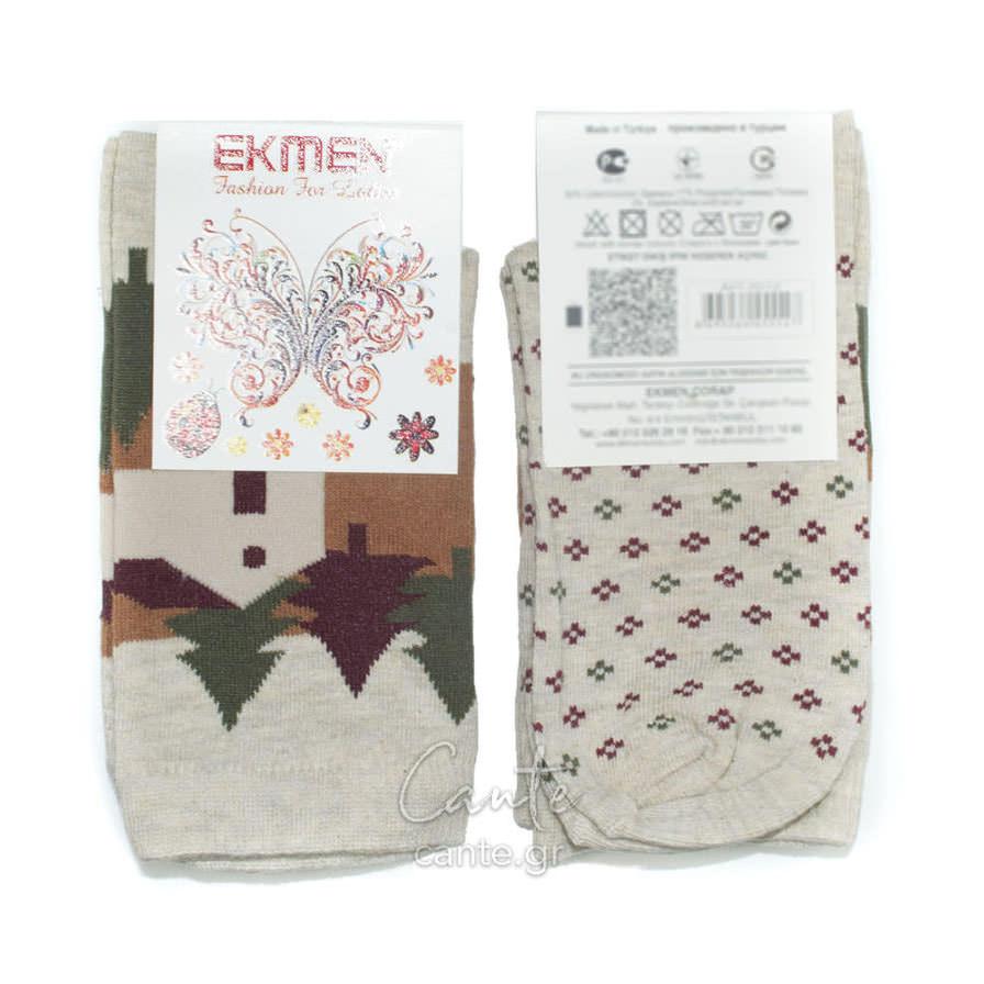 Χριστουγεννιάτικες Γυναικείες Κάλτσες Πετσετέ - Γυναικείες Κάλτσες 3d86eb0d171