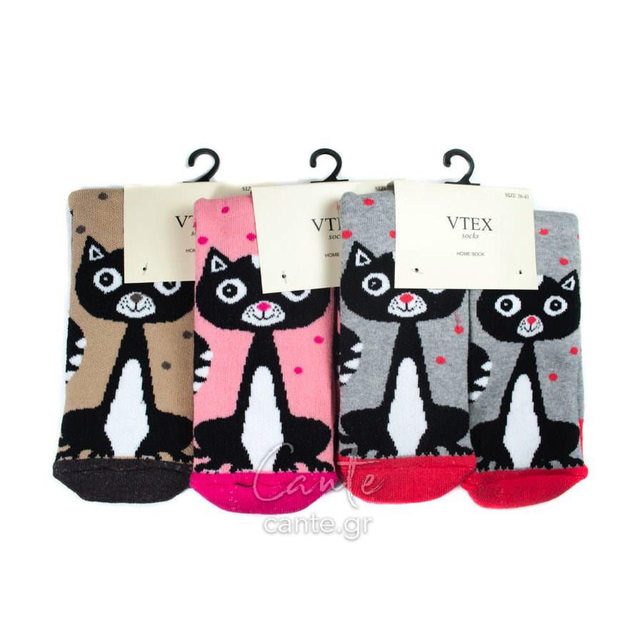 Γυναικείες Κάλτσες Πετσετέ Ψηλές Με Γάτα - Cante 38d4181d812