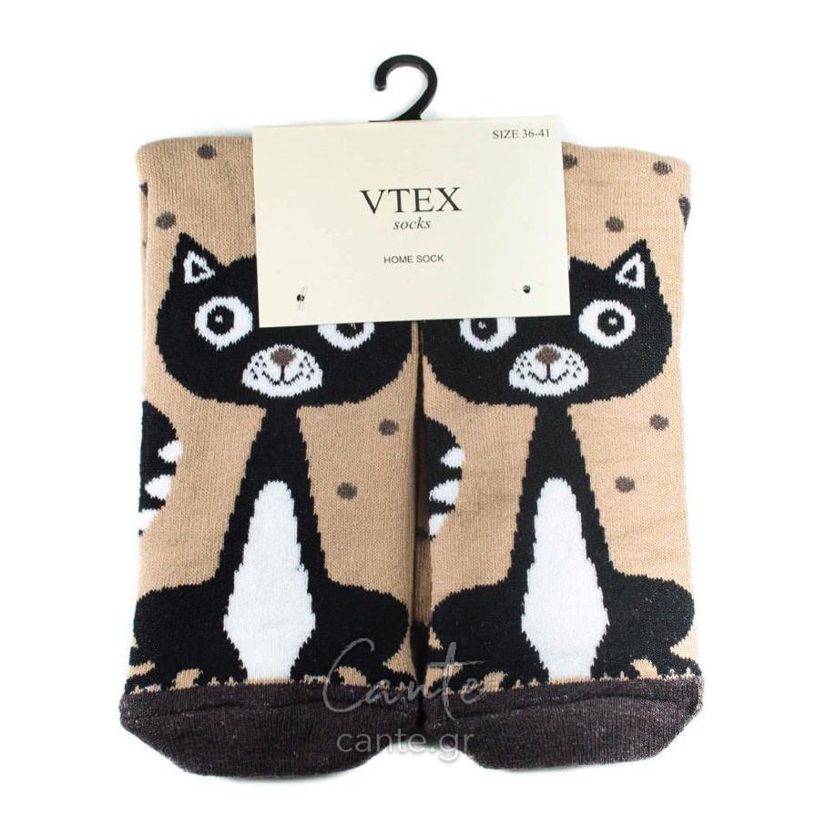 Γυναικείες Κάλτσες Πετσετέ Ψηλές Με Γάτες