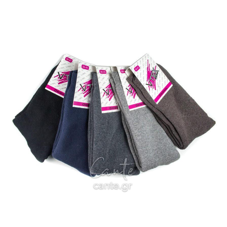Γυναικείες Κάλτσες Ψηλές Μονόχρωμες cante.gr