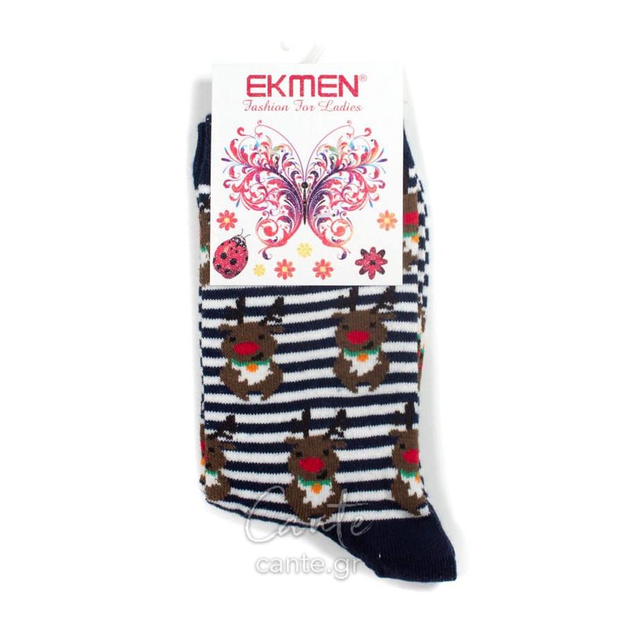 Γυναικείες Κάλτσες Χριστουγεννιάτικες Ψηλές