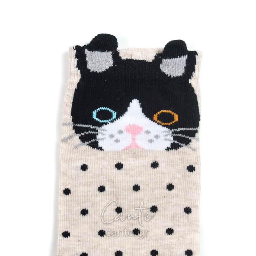 Γυναικείες Κάλτσες Σοσόνι Με Γάτα 3D