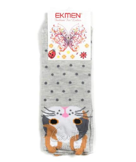Γυναικείες Κάλτσες Σοσόνι Με Γάτα 3D - Γυναικεία Σοσόνια