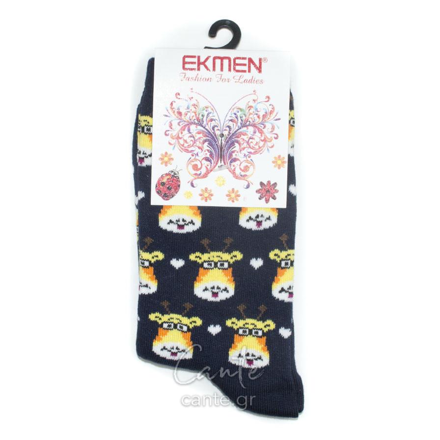 Γυναικείες Κάλτσες Ψηλές Με Καμηλοπάρδαλη - Cante 840954a343f