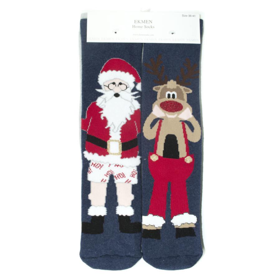 Σετ 2 Χριστουγεννιάτικες Γυναικείες Κάλτσες Πετσετέ