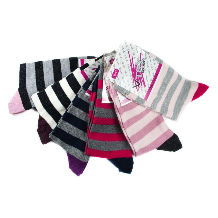 Γυναικείες Κάλτσες Ψηλές Με Ρίγες