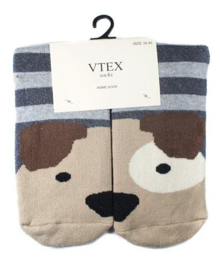 Γυναικείες Κάλτσες Πετσετέ Ψηλές Με Σκύλο