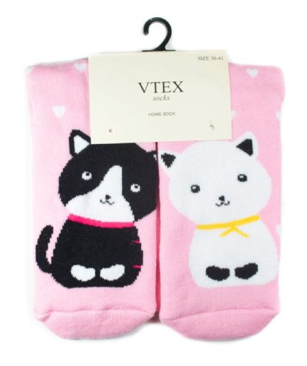 Γυναικείες Κάλτσες Πετσετέ Ψηλές Με Γάτα