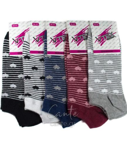 Γυναικείες Κάλτσες Σοσόνια Με Καρδιές, Γυναικεία Σοσόνια - cante.gr
