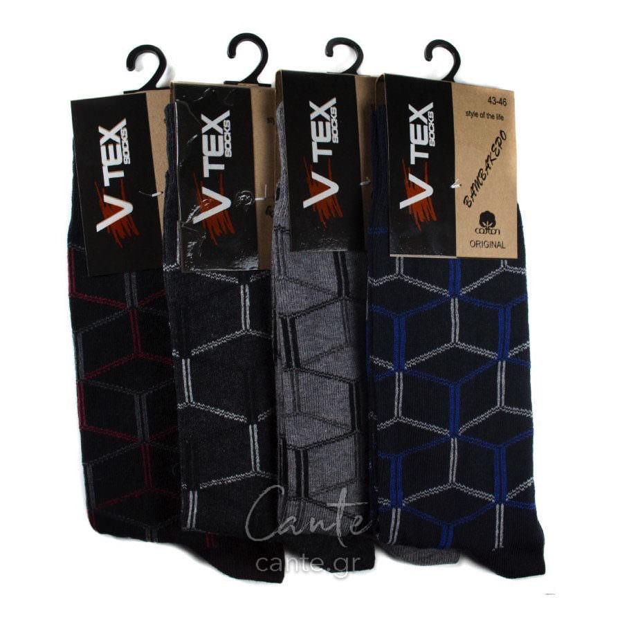 Ανδρικές Κάλτσες Ψηλές Με Σχέδιο - Cante 35453282c35