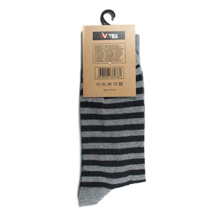 Ανδρικές Κάλτσες Ψηλές Ριγέ Γκρι