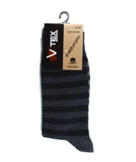 Ανδρικές Κάλτσες Ψηλές Ριγέ Μαύρο