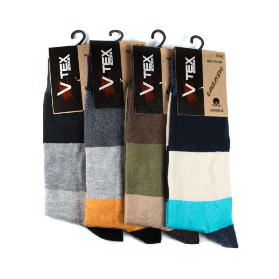 Ανδρικές Κάλτσες Ψηλές Με Ρίγες