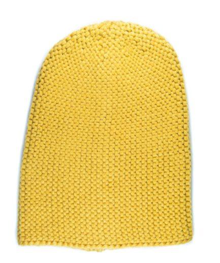 Γυναικείος Σκούφος Πλεκτός Beanie Κίτρινος