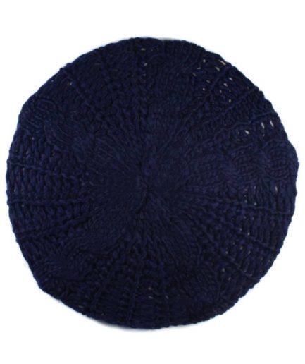 Γυναικείος Σκούφος Με Πλέξη Μπλε
