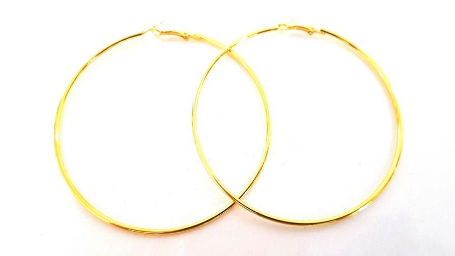 Σκουλαρίκια Hammered Hoops XL