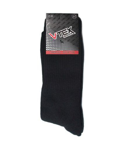 Ανδρικές Κάλτσες Αθλητικές Ψηλές Μαύρες