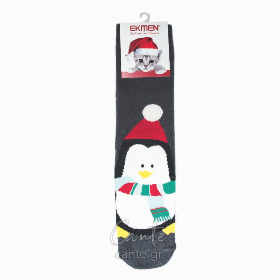 Γυναικείες Κάλτσες Χριστουγεννιάτικες Πετσετέ
