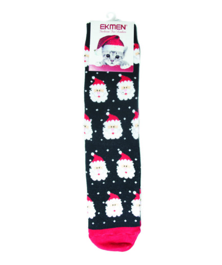 Γυναικείες Κάλτσες Χριστουγεννιάτικες Πετσετέ Αϊ-Βασίλης