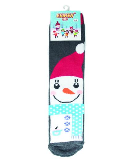 Χριστουγεννιάτικες Κάλτσες Παιδικές Πετσετέ Χιονάνθρωπος
