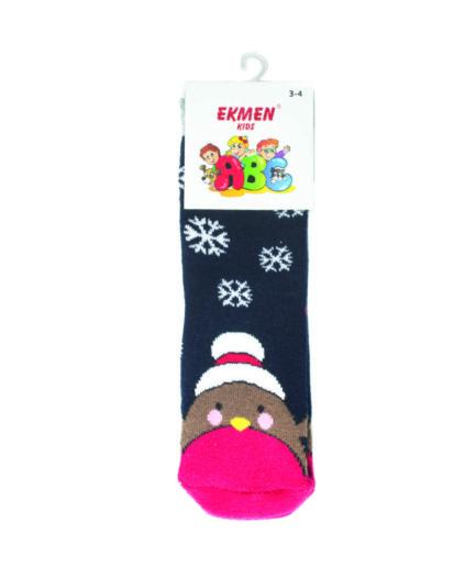 Χριστουγεννιάτικες Κάλτσες Παιδικές Πετσετέ Μπλε