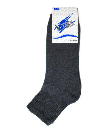 Ανδρικές Κάλτσες Στον Αστράγαλο Πετσετέ Ανθρακί