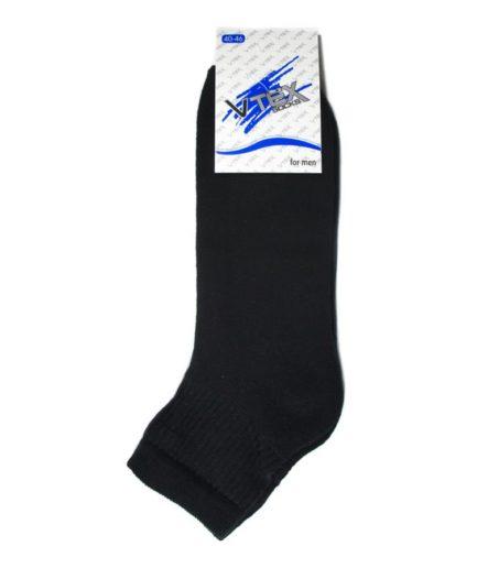 Ανδρικές Κάλτσες Στον Αστράγαλο Πετσετέ Μαύρο