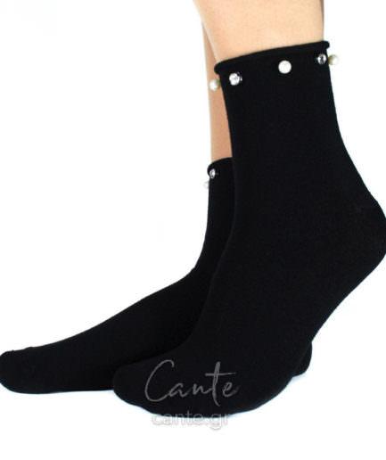 Κοντές Κάλτσες Με Πέρλες Και Τρουκς