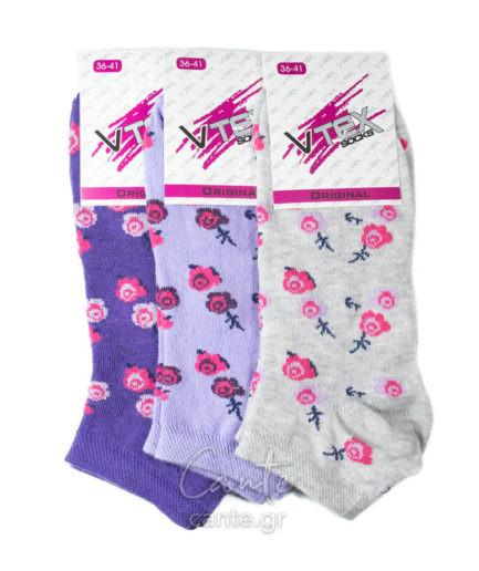 Γυναικείες Κάλτσες Σοσόνι Με Λουλούδια