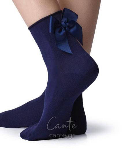 Κοντές Κάλτσες Με Φιόγκο Μπλε