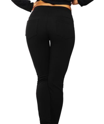 Κολάν Παντελόνι Διαγοναλ Μαύρο Με Τσέπες ΚαιΣτρας - Γυναικεία Κολάν