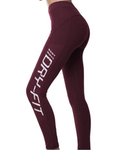 Γυναικείο Αθλητικό Κολάν Dry Fit Μπορντό