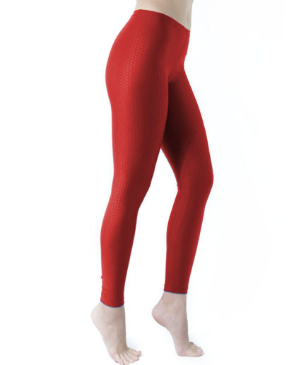 Γυναικείο Κολάν Αθλητικό Κόκκινο, με Ανάγλυφο Ύφασμα