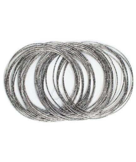 Βραχιόλι Bangles Loop Ανθρακί