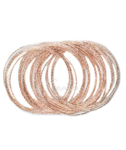 Βραχιόλι Bangles loop Ροζ Χρυσό