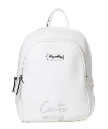 Γυναικεία Τσάντα Backpack Λευκή