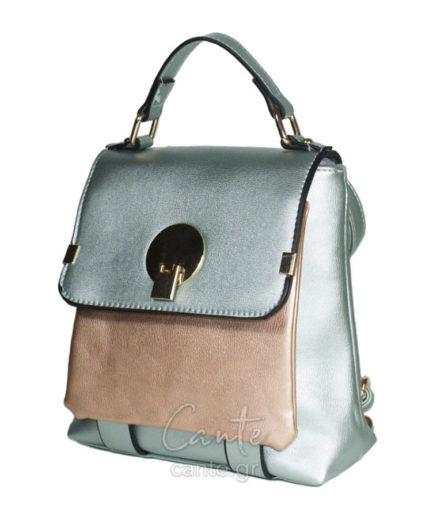 Γυναικεία Τσάντα Backpack Μεταλιζέ