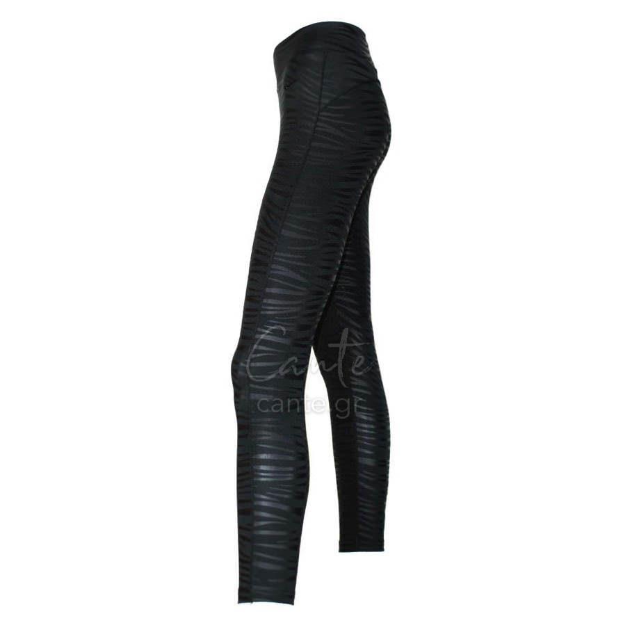 Γυναικείο Κολάν Αθλητικό Με Σχέδιο Ζέβρα Μαύρο