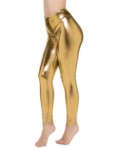 Γυναικείο Κολάν Γυαλιστερό Glitter Χρυσό
