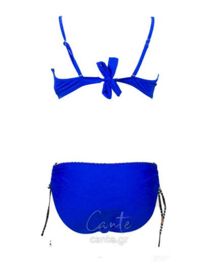 Γυναικείο Μαγιό Μπικίνι Με Καρό Μπλε