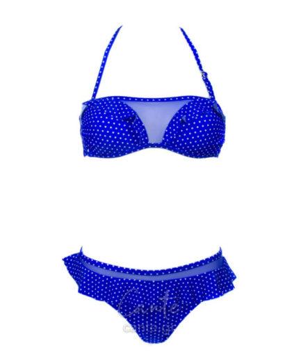 Γυναικείο Μαγιό Μπικίνι Με Διαφάνεια Μπλε Ανοιχτό