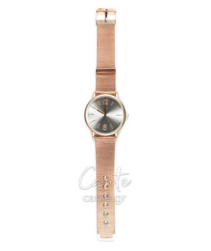 Γυναικείο Ρολόι Bracelet Ροζ Χρυσό
