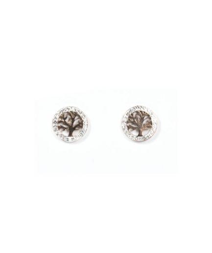 Γυναικεία Σκουλαρίκια Με Σχέδιο Δέντρο Ροζ Χρυσό