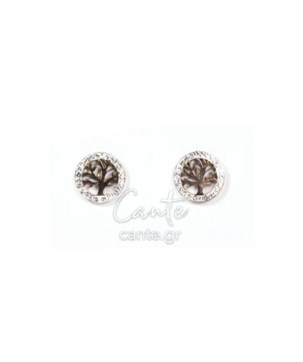 Γυναικεία Σκουλαρίκια Με Σχέδιο Δέντρο